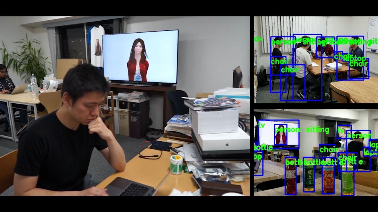 複雑な映像認識とバーチャルヒューマンの連動 Virtual Human Agents on complex computer vision